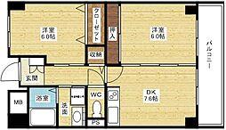 ラフィネ淀川[5階]の間取り