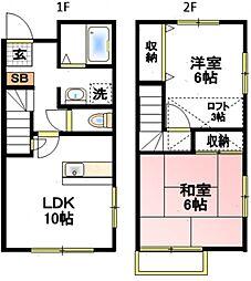 テラス66A[2階]の間取り