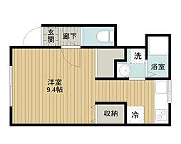 北海道江別市文京台東町の賃貸アパートの間取り
