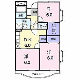 ジュネス香久山[2階]の間取り