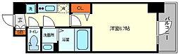 プレサンス福島ミッドエル 7階1Kの間取り