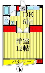 第1アンビルマンション[4階]の間取り