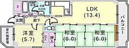 スカイビュー88[3階]の間取り