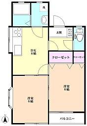朝霞台・志木 賃貸アパート コーポ東B棟[2階]の間取り