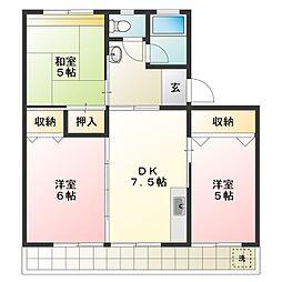 第2三宅ビル[2階]の間取り