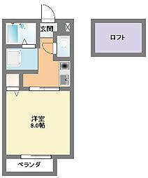 フィールドハイツ[2階]の間取り