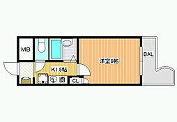 ハートフル藤井寺[7階]の間取り
