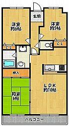 アミル21・ナデシコ館[2階]の間取り