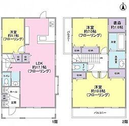 [一戸建] 神奈川県横浜市戸塚区平戸3丁目 の賃貸【/】の間取り