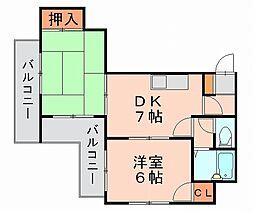 姪浜ハイツ[3階]の間取り