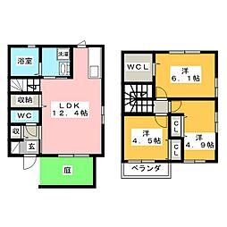 [テラスハウス] 岡山県岡山市南区万倍 の賃貸【/】の間取り