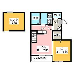 Prest箱崎[2階]の間取り