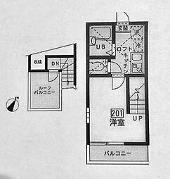 リーヴェルポート横浜パーク[201号室]の間取り