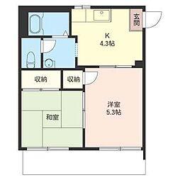 アパートメントハウス志木[102号室]の間取り