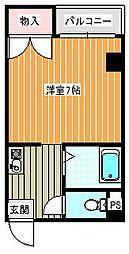 セラ北加賀屋A棟[503号室]の間取り