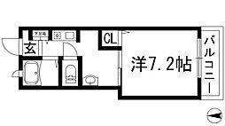 ラフィネ花屋敷[1階]の間取り