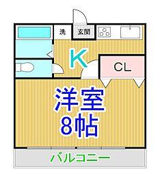 中祥マンションA[3階]の間取り