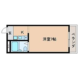 奈良県奈良市北袋町の賃貸マンションの間取り