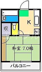 フジハラハイツII[1階]の間取り