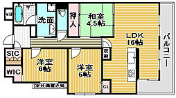 インペリアル鳳[203号室]の間取り