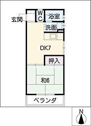 今井コーポ[2階]の間取り