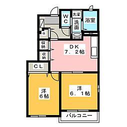 プチ フォレスト A[2階]の間取り