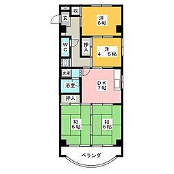 メゾンド・リオン今伊勢[2階]の間取り