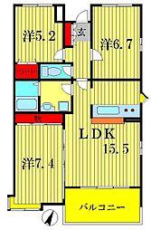 スペリオK−III[1階]の間取り