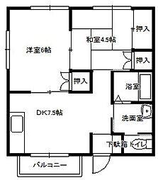 橋口アパート(琴海戸根)[201号室]の間取り