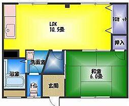 コーポ塩田[2階]の間取り