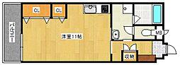 ロッヂングス東屋敷[1階]の間取り