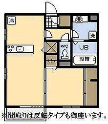 (新築)D-room中村東[202号室]の間取り