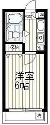 アメニティ南陽台[2階]の間取り