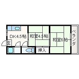ニシマンション[1階]の間取り