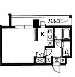東京都江東区木場6丁目の賃貸マンションの間取り