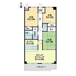 スカール喜多川B棟[1階]の間取り