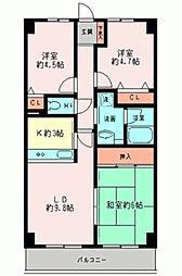 グレイスコート二俣川弐番館[1階]の間取り