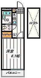 埼玉県川口市領家3丁目の賃貸アパートの間取り