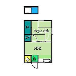 永寿荘[1階]の間取り