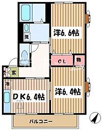 グリーンハイム(中清戸)[2階]の間取り