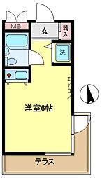 ビリジャン[1階]の間取り