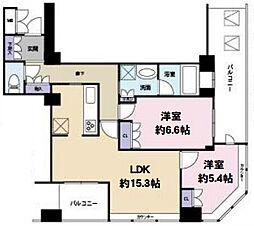 D'グラフォート 大阪 N.Yタワー HIGOBASHI[6階]の間取り
