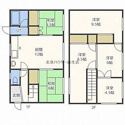 花川南2-5 堀内邸貸家 1階6LDKの間取り