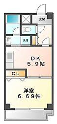 セレナ東甲子園[4階]の間取り