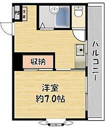 トレビアン花田[1階]の間取り