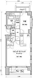プラチナコート南麻布[5階]の間取り