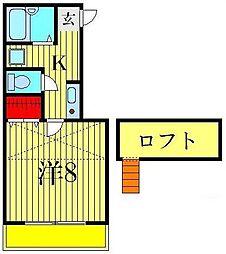 ラ リベルテ[2階]の間取り