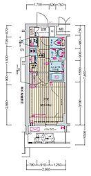 名古屋市営鶴舞線 丸の内駅 徒歩7分の賃貸マンション 11階1Kの間取り