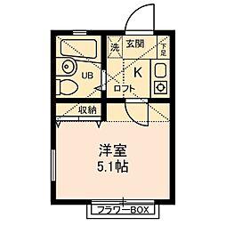 カフーかしわ台[2階]の間取り