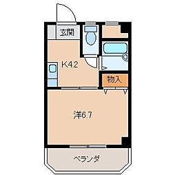 アンビアンテ田中町[4階]の間取り